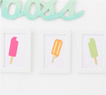 Popsicle art trio